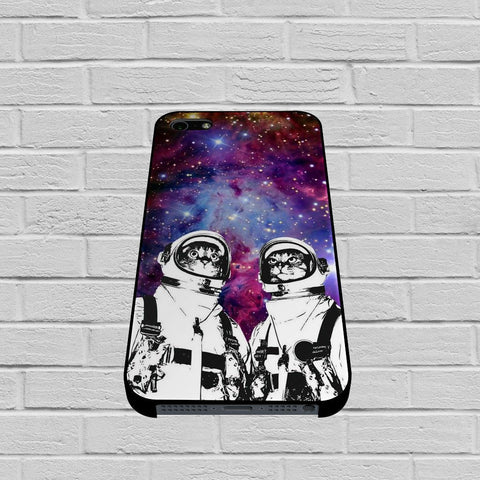 BON0422Astronaut Cat Galaxy Space Nebula case of iPhone case,Samsung Galaxy