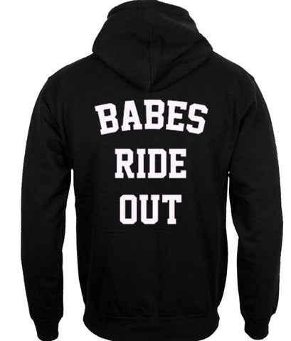 Babes ride out hoodie BACK