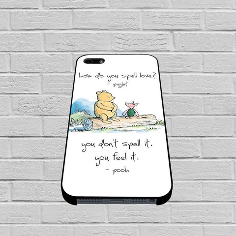 Baby Winnie The Pooh Piglet Love Quote case of iPhone case,Samsung Galaxy