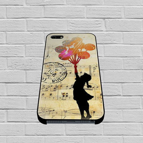 Banksy Balloon Girl Music Sheet case of iPhone case,Samsung Galaxy