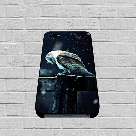 Barn Owl Tyto Alba in Snow case of iPhone case,Samsung Galaxy