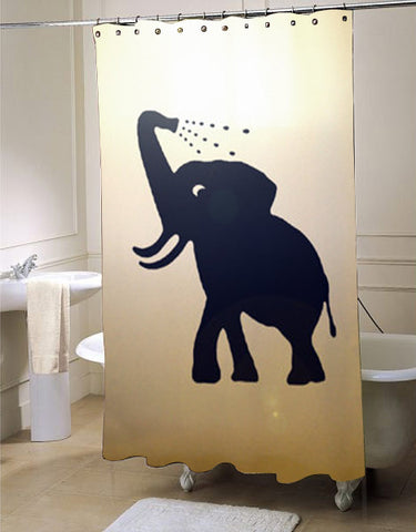 Bathing Baby Elephant  shower curtain customized design for home decor