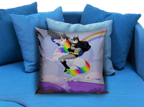 Batman is my favourite Disney Princess with unicorn  Pillow case