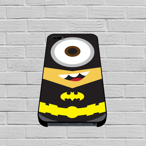 Batman with Mr Minions from Despicable Me case of iPhone case,Samsung Galaxy