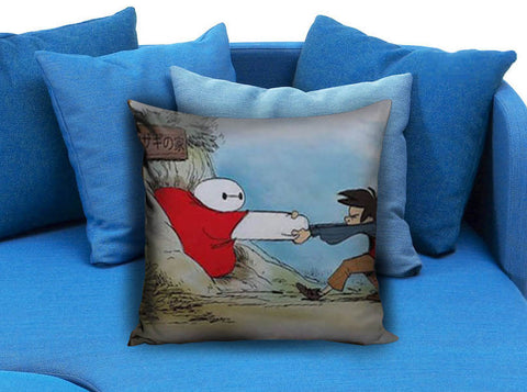 Baymax stuk in a hole Pillow case