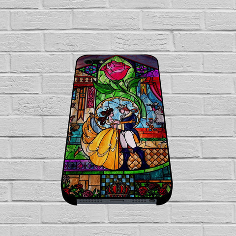 Beauty and The Beast Stained Glass case of iPhone case,Samsung Galaxy