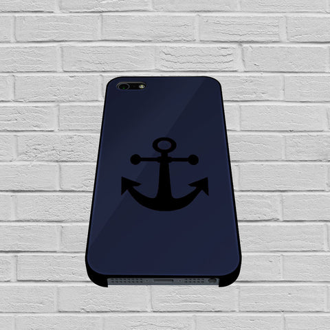 Black Anchor On Blue Word Quote case of iPhone case,Samsung Galaxy