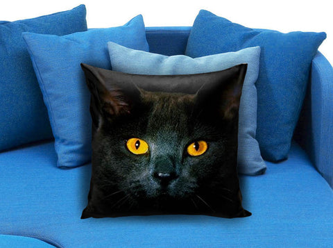 Black Cat Eyes Dark Pillow case