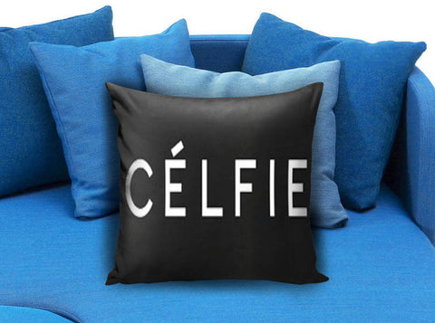 Black Celfie Pillow case