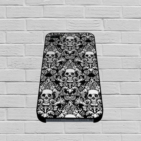 Black Damask Skull Pattern case of iPhone case,Samsung Galaxy