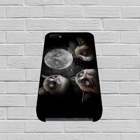 Black Grumpy Cat like a moon case of iPhone case,Samsung Galaxy