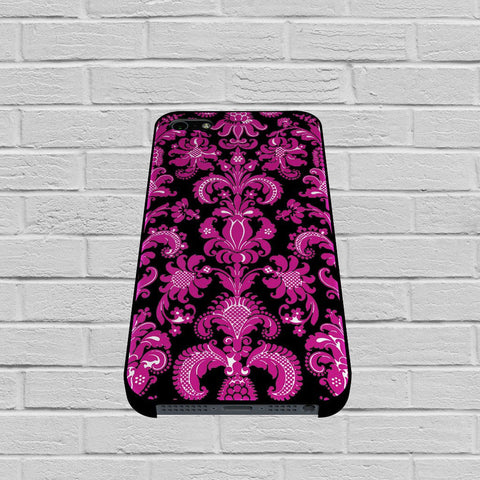 Black Pink Damask Pattern case of iPhone case,Samsung Galaxy