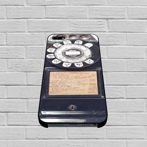 Black Retro Pay Phone case of iPhone case,Samsung Galaxy