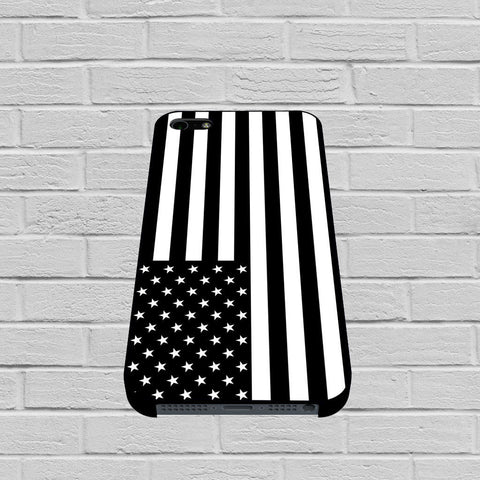 Black White American Flag case of iPhone case,Samsung Galaxy