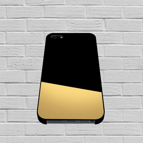 Black and Gold Color Block case of iPhone case,Samsung Galaxy