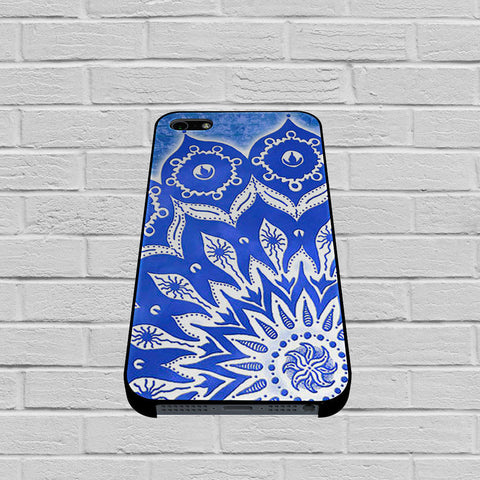 Blue Mandala Pattern case of iPhone case,Samsung Galaxy