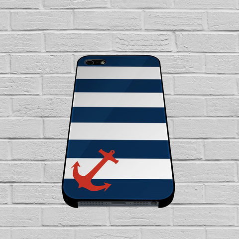 Blue Orange Anchor case of iPhone case,Samsung Galaxy