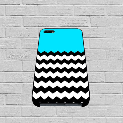 Blue Teal Chevron case of iPhone case,Samsung Galaxy