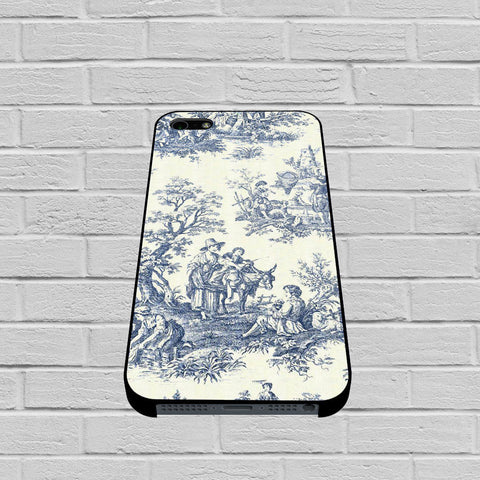 Blue Toile case of iPhone case,Samsung Galaxy