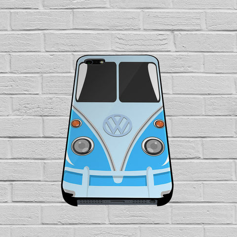 Blue VW Camper Volkswagen Minibus case of iPhone case,Samsung Galaxy