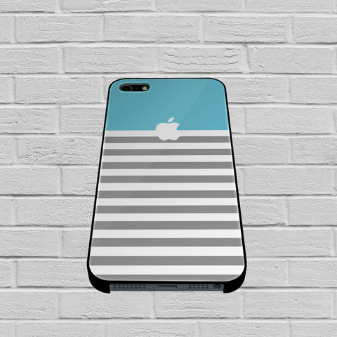 Blue and Grey Stripes Apple case of iPhone case,Samsung Galaxy