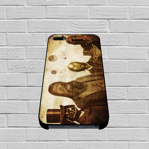 Boba Fett, C-3PO, Darth Vader, Yoda And Chewbacca Star Wars case of iPhone case,Samsung Galaxy