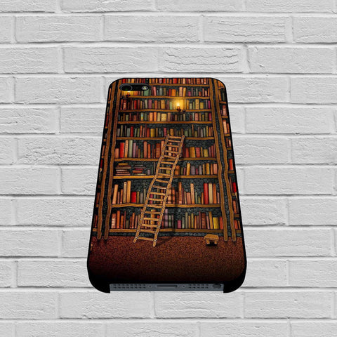 Bookshelves Design Paint Poster Art case of iPhone case,Samsung Galaxy