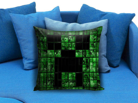 Brick Game Minecraft Creeper Pillow case