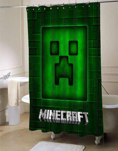 Brick Game Style shower curtain customized design for home decor