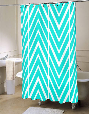 Bright Turquoise  shower curtain customized design for home decor