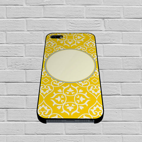 Bright Yellow And Blue Pattern Monogrammed case of iPhone case,Samsung Galaxy