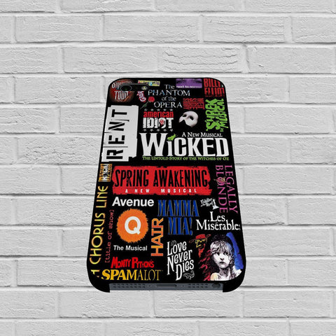 Broadway Musical Collage Art case of iPhone case,Samsung Galaxy