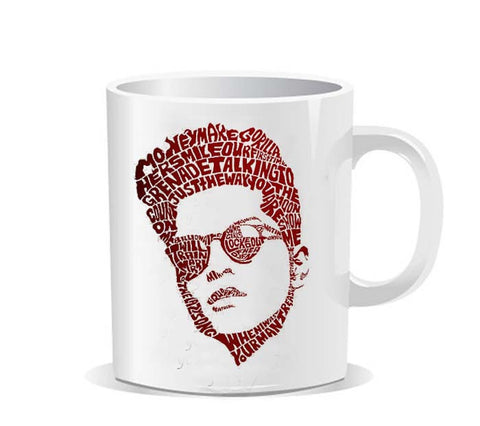 Bruno Mars Typography Ceramic Mug