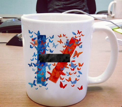 Butterfly Art Twenty One Pilots Logo Ceramic Mug