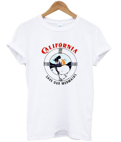California Save our Mermaids T Shirt