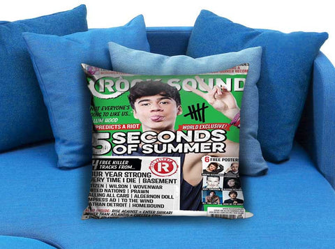 Calum Hood 5 Second Of Summer Rock Sound Pillow case