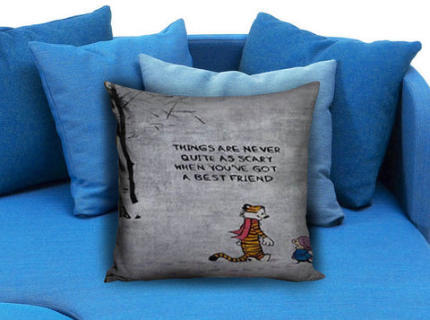 Calvin and Hobbes Quote Pillow case