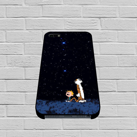 Calvin and Hobbes Outer Space Stars case of iPhone case,Samsung Galaxy