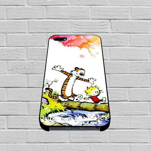 Calvin and Hobbes Watercolor case of iPhone case,Samsung Galaxy