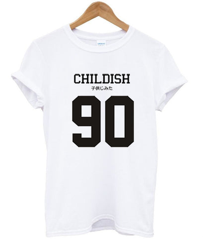 Childish 90 with both English and kanji) tshirt