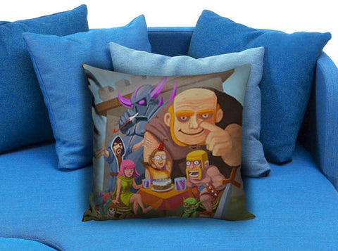 Clash of Clan Family Pillow case