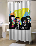 Coldplay Typography shower curtain customized design for home decor