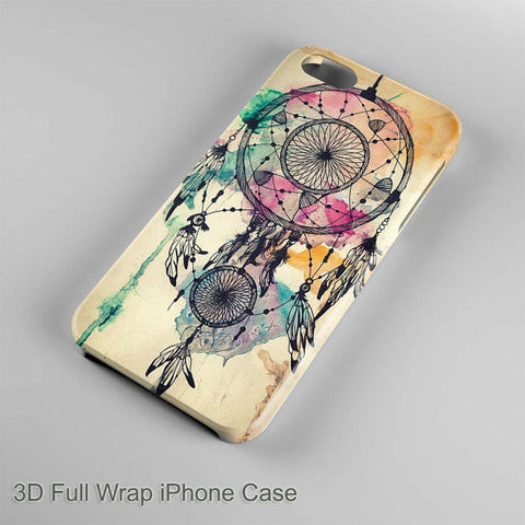 Colorful Dream Catcher Art 3D Full Wrap Phone case iPhone case Samsung Galaxy Case
