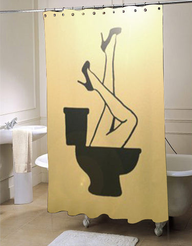 Crazy Funny Toilet Humor  shower curtain customized design for home decor