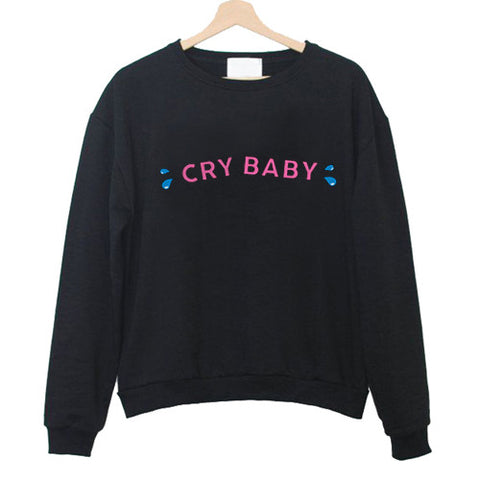 Cry Baby Black Sweatshirt