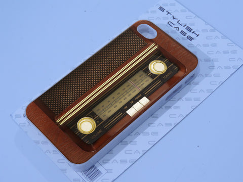 Cute Brown Wood Retro Old School Radio Cool Phone Case iPhone case Samsung Galaxy Case