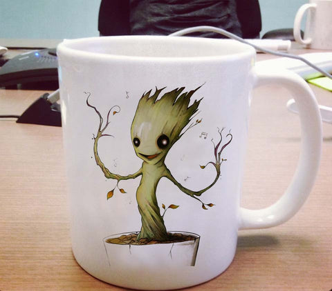 Dancing Baby Groot Ceramic Mug