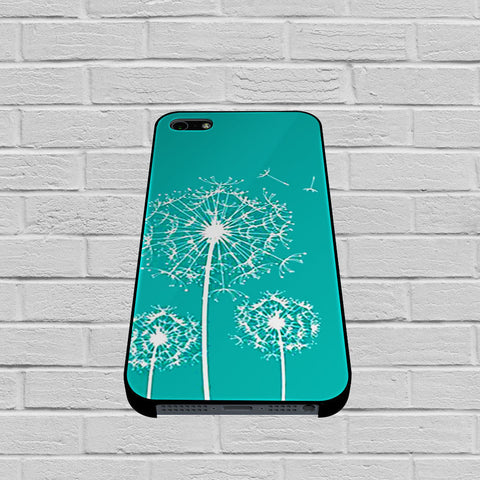 Dandelion Flowers On Tiffany Blue case of iPhone case,Samsung Galaxy