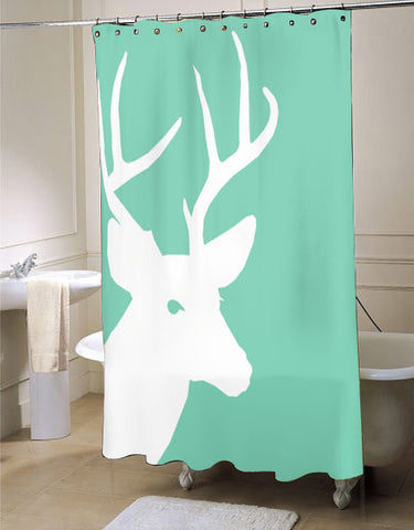 Deer Lucite Green  shower curtain customized design for home decor