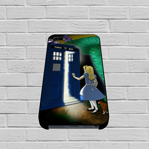 Disney Alice In Wonderland Tardis Doctor Who case of iPhone case,Samsung Galaxy